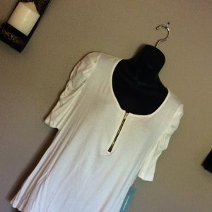 NWT XL NY Collection White Blouse